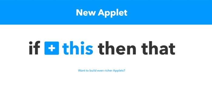 applet ifttt