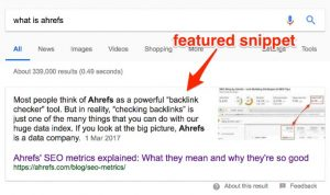 featured snippet la gi
